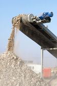 Machine for crushing stone — Stock Photo