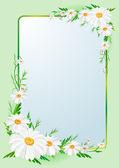 Flowers border frame — Vettoriale Stock
