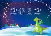 Dragon new 2012 year symbol — Stock Vector
