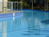 Blue water in Pool at resort — Stock Photo