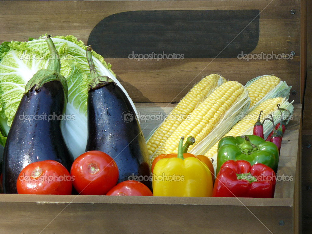 Organically grown produce is full of vitamins and minerals  Stock Photo #6854122