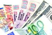 Several countries currencies (focus on dollars) — Stockfoto