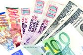 Several countries currencies (focus on dollars) — ストック写真