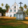 An old church in the Portuguese style in the Indian city of Cochin — Stock Photo