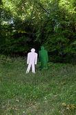 Dwa cele, stojący w lesie — Zdjęcie stockowe