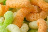 Multi-colored corn sticks — Stock Photo