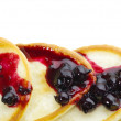 Pancakes with blackcurrant jam — Stock Photo #7657461