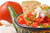 Spicy salsa with variety of ingredients — Stock Photo