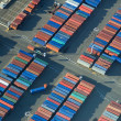 Shipping Container Rows — Stock Photo