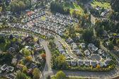 Aerial View of Bright Suburban Neighborhood — Stock Photo