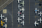 Airplanes Parked on a Ramp at an Airport — Stock Photo