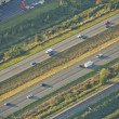 Lanes on Highways - Aerial — Stok fotoğraf