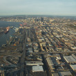 Seattle and Industrial District - Aerial - Stock Photo