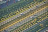 Lanes on Highways - Aerial — ストック写真