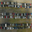 Car Parking Lot Aerial — Stock Photo