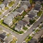 Suburban Street Corner - Aerial — Stock Photo