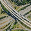 Aerial Highway Junction — Stockfoto
