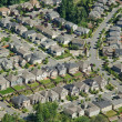Houses on Hillside - Aerial — Stock Photo