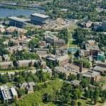 University Campus - Aerial — Stock Photo