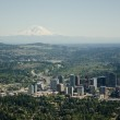 City and Moutain - Aerial — Stock Photo