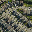 Aerial View - Suburban Neighborhood — Stock Photo