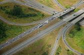 Skrzyżowania autostrady - antena — Zdjęcie stockowe