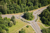 Large Roundabout - Aerial — Stock Photo