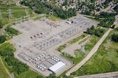 Substation - Aerial View — Stock Photo