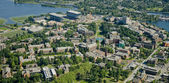 University Campus - Aerial — Stock Photo