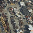 Construction Equipment Rental Yard - Aerial — Stock Photo