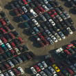 Royalty-Free Stock Photo: Junkyard Rows - Aerial