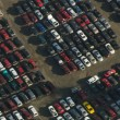 Junkyard Rows - Aerial — Stock Photo