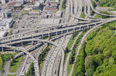 Complex Interstate Junction - Aerial View — Stock Photo