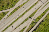Weaving Highway On-Ramps and Off-Ramps — Stock Photo