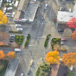 Large Intersection in Autumn - Stock Photo
