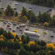 Stock Photo: Highway Traffic Accident - Aerial