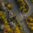 Highway Off-Ramp in Autumn - Stock Photo