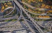 Interstate Overpass at Sunset — Stock Photo