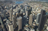 Downtown Aerial — Stock Photo