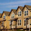 Row of Townhomes on Sunny Day — Stock Photo