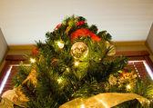Looking Up to Peak of Christmas Tree — Stock Photo