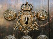 Retro keyhole — Stock Photo
