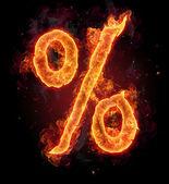 Fire alphabet symbol — Stock Photo