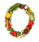 Vegetable alphabet number — Stock Photo