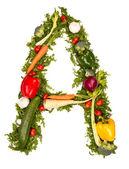 Vegetable alphabet symbol — Stock Photo