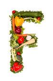 Symbole de l'alphabet de légumes — Photo