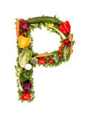 Vegetable alphabet symbol — Stock Photo