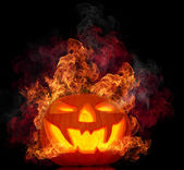 Halloween evil pumpkin — Stock Photo