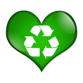 Love Recycling button — Stock Photo