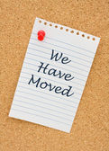 We have moved — Stock Photo